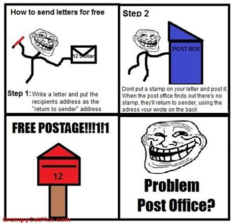 How To Make A Meme Comic - how to send your letters for free funny cute meme comic