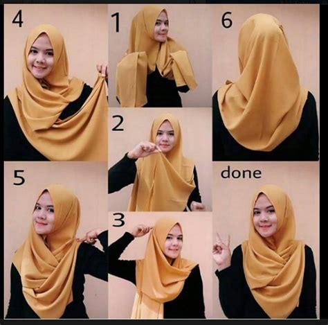 tutorial memakai jilbab pashmina youtube cara memakai hijab kreasi modern modis cantik terbaru