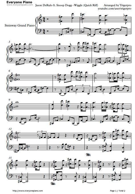 piano tutorial wiggle partition piano wiggle