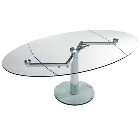 oval glass dining table expandable swivel glass oval dining table home articles