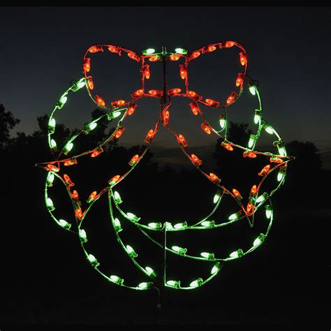 led christmas wreath light display 4