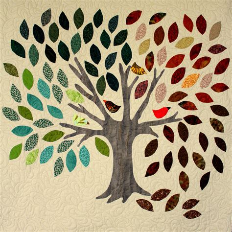 tree wall hanging modern quilting by b a tree for all seasons