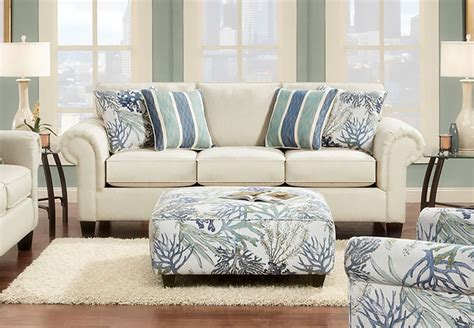 coral reef accent chair fusion sofa and loveseat in coral reef