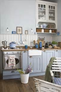 cute style kitchen: cute coastal kitchen with light blue cabinets and rustic flare