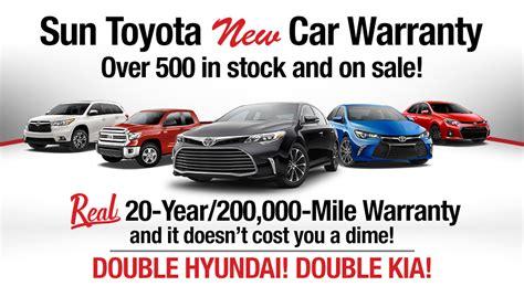 Toyota Warranty Sun Toyota Fl 20 Yr 200 000 Mile New Car Warranty