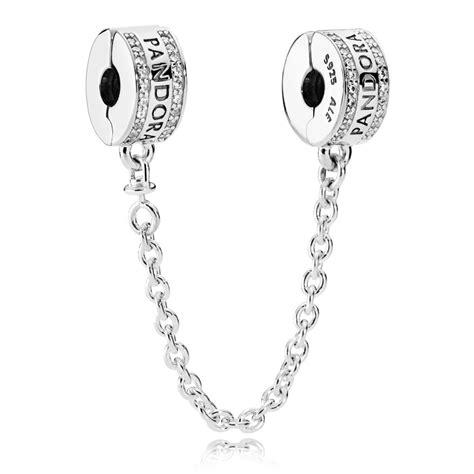 cadena pandora plata cadena de seguridad en plata de ley logo pandora