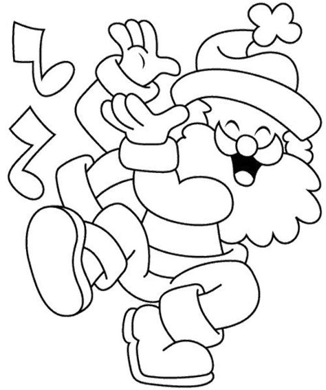 dancing santa coloring page 330 best pinturas de natal images on pinterest xmas