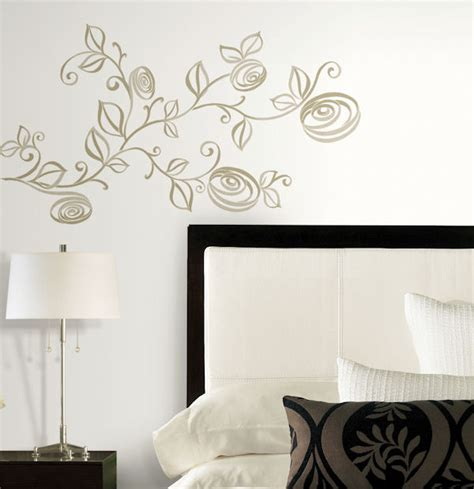 peel and stick wall decor stylized roses peel and stick wall decals