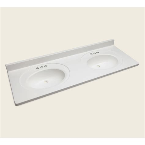 Vanity Top Bathroom Sinks Shop Style Selections Vanity White Cultured Marble Integral Sink Bathroom Vanity Top