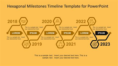 milestone chart templates powerpoint hexagonal milestones timeline template for powerpoint
