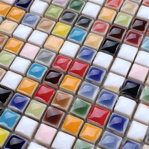 porcelain tile mosaic glazed ceramic tiles bathroom wall ceramic tile sheets square iridescent mosaic art pattern