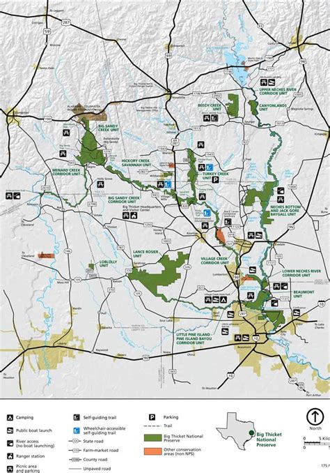 map big texas big thicket national preserve texas national park service