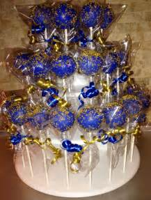 royal blue and gold baby shower decorations royal blue gold glitter cake pops www friscocakepopshop www friscocakepopshop