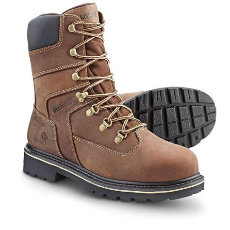 wolverine steel toe shoes s wolverine 174 mattock 8 quot waterproof steel toe boots