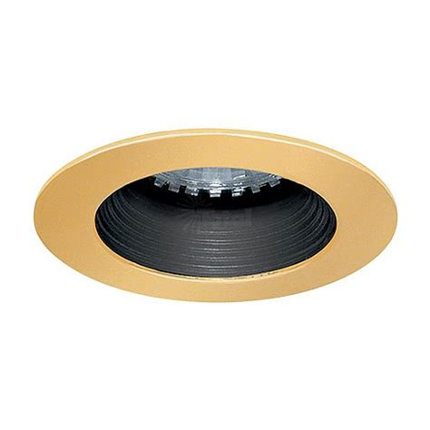 cabinet lighting trim led cabinet recessed black baffle polished brass