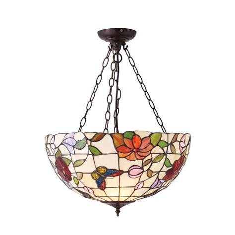 70746 butterfly large inverted 3 light pendant