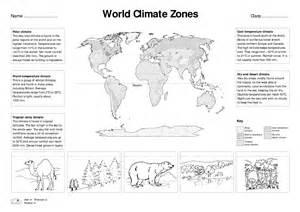 World Map Worksheet by Climate Zones Worksheet Bloggakuten