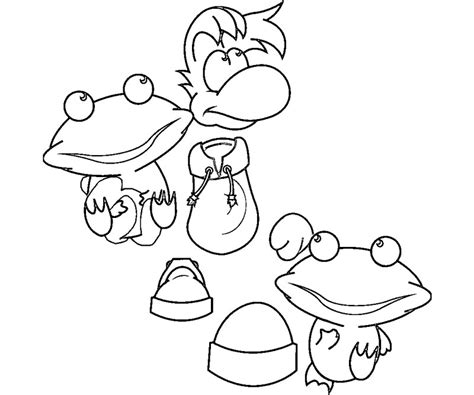 rayman coloring pages free coloring pages