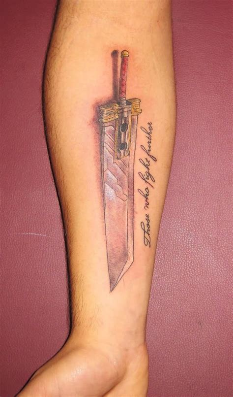 good forearm tattoos sword images designs