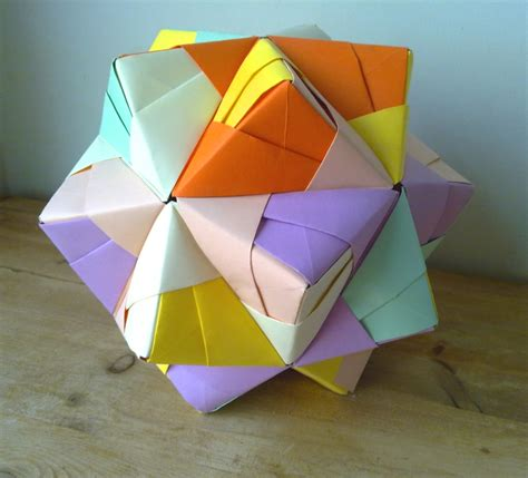 Origami Net - origami icosahedron by machinesway on deviantart