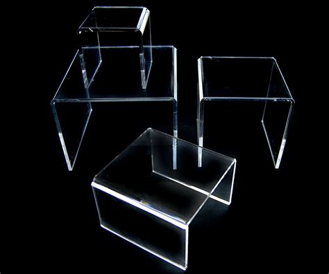 Acrylic Stand plastic display risers clear acrylic risers clear