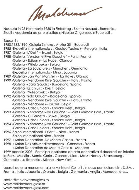 cv format romanesc artindex 187 moldoveanu cornelia