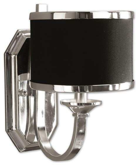 Uttermost Bathroom Lighting Uttermost 22442 Tuxedo Black Wall Sconce Contemporary Bathroom Vanity Lighting By Lighting