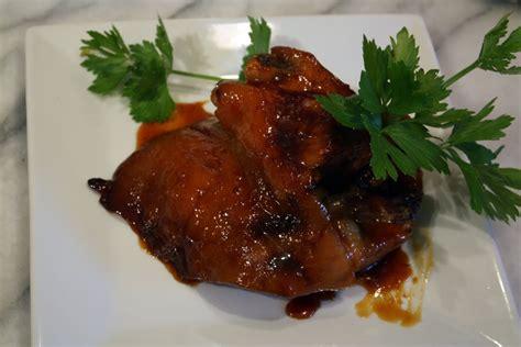 cuisiner jarret de porc jarret de porc laqu 233 au miel et aux agrumes par mamy