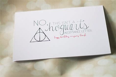 Hogwarts Acceptance Letter Birthday Card Not Your Hogwarts Acceptance Letter Birthday Card