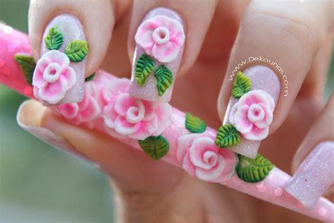 imagenes uñas en 3d decoraci 243 n de u 241 as rosa 3d en acr 237 lico how to make pink