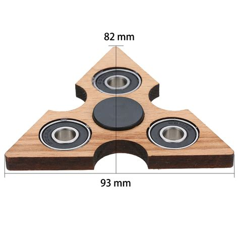 Fidget Spinner Aus Holz by Best Triangle Wooden Fidget Finger Spinner Spin