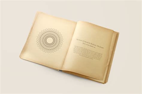 photoshop template open book old book mockup on behance