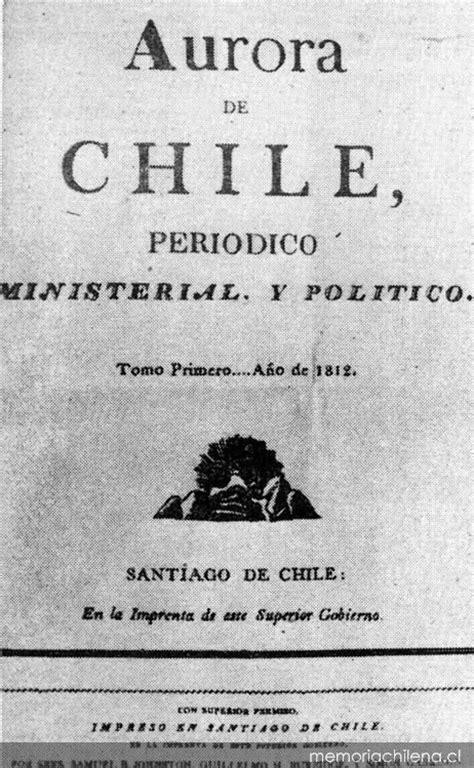 Portada de La Aurora de Chile: tomo 1, número 1, 13 de