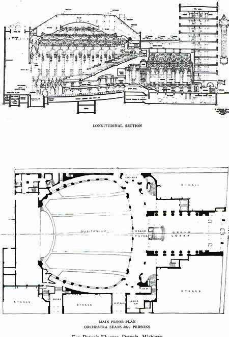 fox theater floor plan the fox theater floor plan the architecture of detroit
