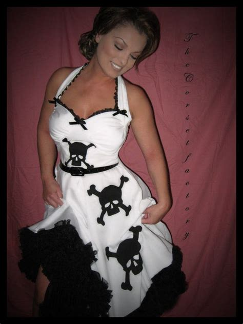 pinups for black weddings rockabilly pinup goth black and white skull dress