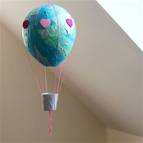 Make A Paper Air Balloon - paper mache air balloon spoonful crafty projects