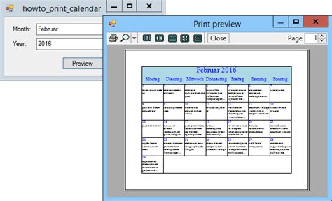 Calendar Helper Print A Calendar In C C Helperc Helper