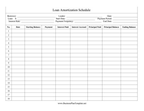 printable amortization schedule with dates loan amortization schedule