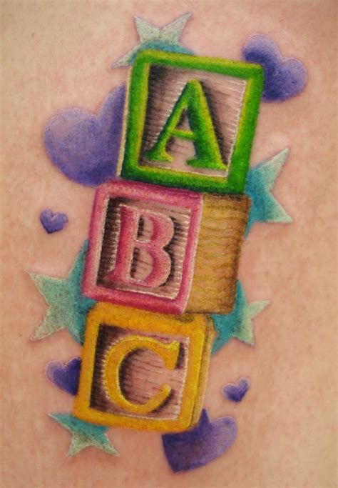 baby block tattoo designs pleaded skirts 25 fetching baby blocks