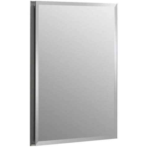 shop kohler 20 in h x 16 in w metal recessed medicine