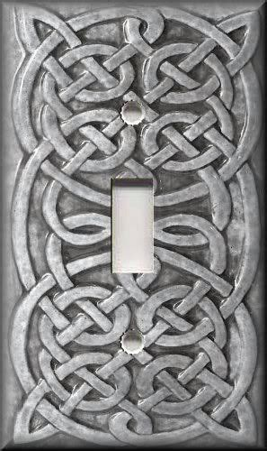 details  metal light switch plate cover grey home