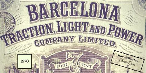 Barcelona Traction Case | classic cases barcelona traction case 1970 kenneth m