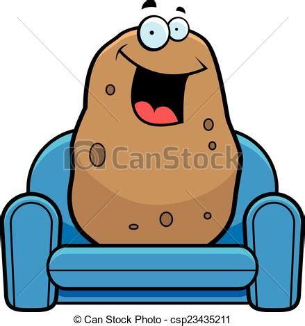 couch potato icon vector clip art of cartoon couch potato a cartoon