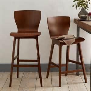 crest bentwood bar counter stools west elm