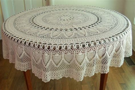 pattern crochet tablecloth decoration handmade crocheted pineapple tablecloth white