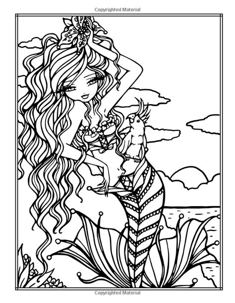 libro sweet simple whimsy sweet simple whimsy girls mermaids and more to color hannah lynn 9781533393692 amazonsmile