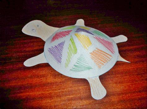 Paper Turtle Craft - 3d paper turtle my kid craft