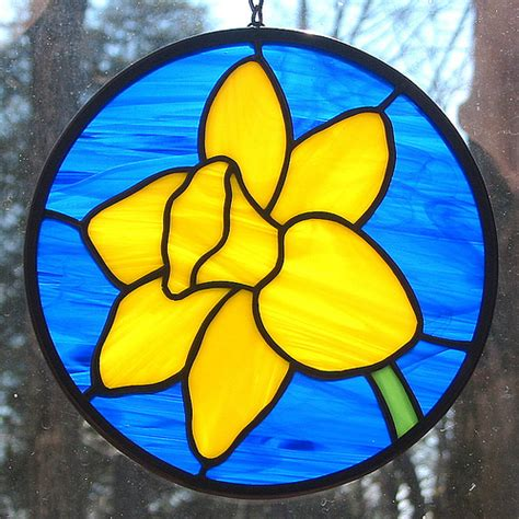 stained glass ls stained glass daffodil window decoration ullswater