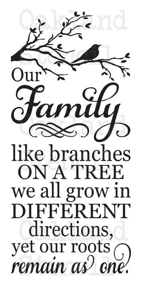 printable quotes for wooden signs stencil our family like branches tree 12x24 for painting