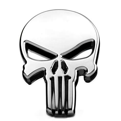 Emblem Metal Sticker Punisher Skull Logo 3d Chrome popular punisher car accessories buy cheap punisher car accessories lots from china punisher car